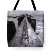 Folly Beach Pilings Charleston South Carolina Tote Bag