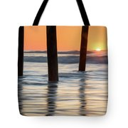 Folly Beach Sunrise Charleston South Carolina Tote Bag