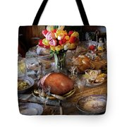 Food - Easter Dinner Tote Bag by Mike Savad