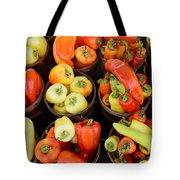 Food - Peppers Tote Bag by Paul Ward