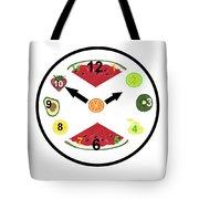 Food Clock Tote Bag