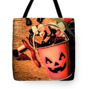 Food For The Little Halloween Spooks Tote Bag