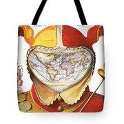 Fools Cap World Map, C1590 Tote Bag