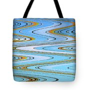Foot Bridge Abstract Tote Bag