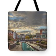 Foot Bridge At Gas Street Basin  Birmingham Tote Bag