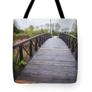 Foot Bridge In Park Tote Bag