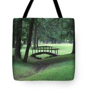 Foot Bridge In The Park Tote Bag