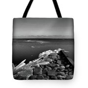 Foot Of 9th Line South Bw  Tote Bag