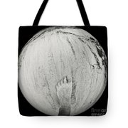 Foot On Earth Tote Bag
