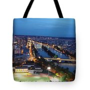 Football Along The Seine Tote Bag
