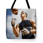 Football Athlete I Tote Bag by Kicka Witte - Printscapes