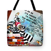Football Derby Rams Against Bristol Robins Tote Bag