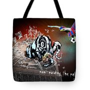 Football Derby Rams Against Crystal Palace Eagles Tote Bag