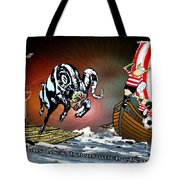 Football Derby Rams Against Doncaster Vikings Tote Bag