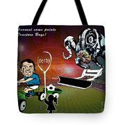 Football Derby Rams Against Ipswich Tractor Boys Tote Bag