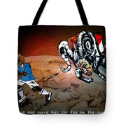 Football Derby Rams Against Leicester Foxes Tote Bag