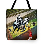 Football Derby Rams Against Nottingham Forest Red Dogs Tote Bag