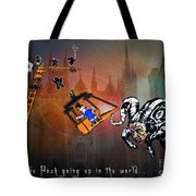 Football Derby Rams Against Peterborough Posh Tote Bag
