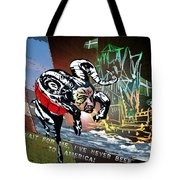 Football Derby Rams Against Plymouth Pilgrims Tote Bag