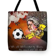Football Derby Rams Against Swansea Swans Tote Bag