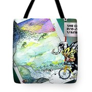 Football Derby Rams On Holidays In The Mountains Tote Bag