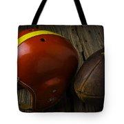 Football Helmet And Football Tote Bag