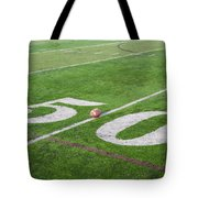 Football On The 50 Yard Line Tote Bag