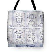 Football Patent History Blueprint Tote Bag