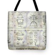 Football Patent History Tote Bag