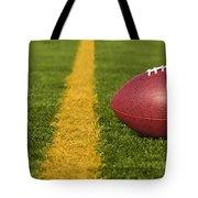 Football Short Of The Goal Line Close Tote Bag