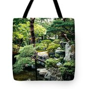 Footbridge Across A Pond, Kyoto Tote Bag