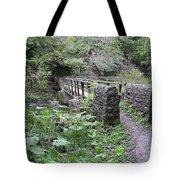 Footbridge At Millers Dale Tote Bag