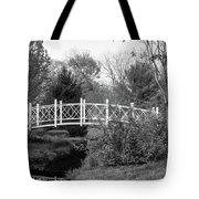 Footbridge In Black And White Tote Bag