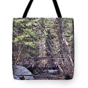 Footbridge In The Spring Tote Bag