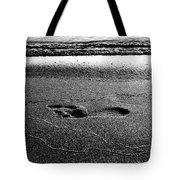Footprint Bw Tote Bag