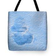 Footprint In The Snow Tote Bag