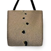 Footprints In The Sand ... Tote Bag
