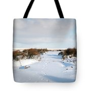 Footprints In The Snow Iv Tote Bag