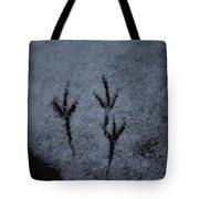 Footprints In The Snow Tote Bag
