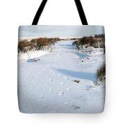 Footprints In The Snow V Tote Bag