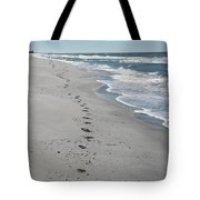 Footsprints In The Sand Tote Bag