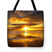 Footsteps  Beneath The Sunset I  Tote Bag