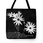 For God So Loved Black-eyed Susan Flower Tote Bag