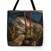 For The Bishop Of Digne Tote Bag by Break The Silhouette