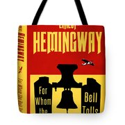 For Whom The Bell Tolls Book Cover Poster Art 1 Tote Bag