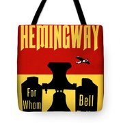 For Whom The Bell Tolls Book Cover Poster Art 2 Tote Bag