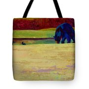 Foraging At Neets Bay - Black Bear Tote Bag