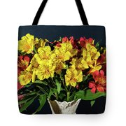 Foral Bouquet Of Red And Yellow Astomelia Tote Bag