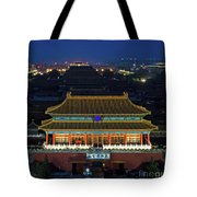 Forbidden City By Night Tote Bag