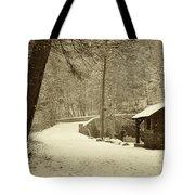 Forbidden Drive In Winter Tote Bag